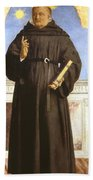 Saint Nicholas Of Tolentino Bath Towel