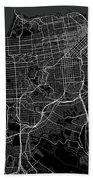 San Francisco California Usa Dark Map Bath Towel