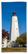 Sandy Hook Lighthouse Bath Towel
