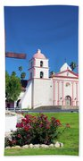Santa Barbara Mission And Cross Bath Towel