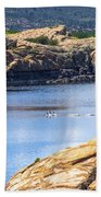 Scenic Willow Lake  Bath Towel