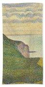 Seascape At Port-en-bessin Normandy Bath Towel