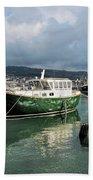 September Morning - Lyme Regis Harbour Bath Towel