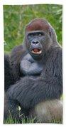 1- Silverback Western Lowland Gorilla  Bath Towel