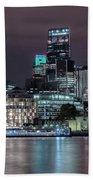 Skyline Of London Bath Towel
