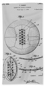 Soccer Ball Patent  1928 Bath Towel