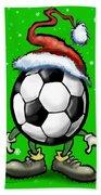 Soccer Christmas Hand Towel