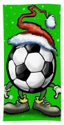 Soccer Christmas Bath Towel