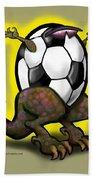 Soccer Saurus Rex Bath Towel