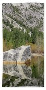 Some Beautiful Scene Of The Famous Mirror Lake Of Yosemite Bath Towel
