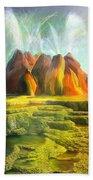 Spitting-fly Geyser In Nevada Hand Towel