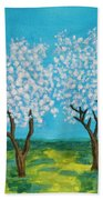 Spring Garden, Painting Bath Towel