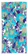 Spring Summer Flowers In Vintage Style. Seasons Floral Pattern Bath Towel