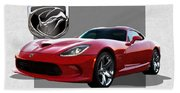 S R T  Viper With  3 D  Badge  Bath Towel