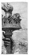 Statue Of Liberty: Torch Bath Towel
