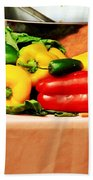 Still Life - Vegetables Bath Towel