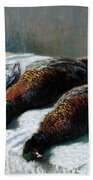 Still Life With Pheasants And Plovers Bath Towel