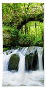 Stone Bridge Over River Bath Towel