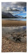 Storms Over Upper Waterton Lake Bath Towel