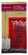 Street Art In Palma Majorca Spain Bath Towel