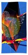 Street Light And Fireworks As Art Bath Towel