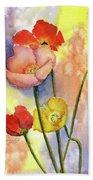 Summer Poppies Hand Towel