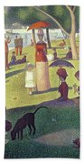 Sunday Afternoon On The Island Of La Grande Jatte Bath Towel by Georges Pierre Seurat