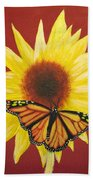 Sunflower Monarch Bath Towel