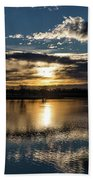 Sunrise Reflections On The Great Plains Bath Towel