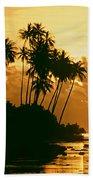 Sunset In Atiha, Moorea, French Polynesia Bath Towel