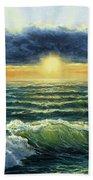 Sunset Over Ocean Bath Towel
