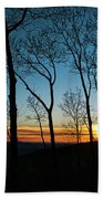 Sunset Trees Bath Towel