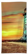 Talacre Lighthouse - Wales Bath Towel
