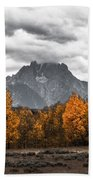 Teton Fall - Modern View Of Mt Moran In Grand Tetons Bath Towel