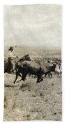 Texas: Cowboy, C1908 Bath Towel