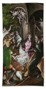 The Adoration Of The Shepherds Bath Towel