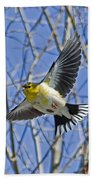 The American Goldfinch In-flight, Bath Towel