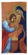 The Arrival Of The Apostles To The Virgin Fragment 1311  Bath Towel