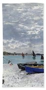 The Beach At Sainte Adresse Bath Towel