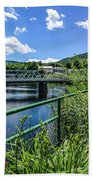 The Bridges At Shelbourne Falls Bath Towel