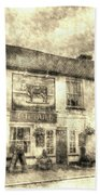 The Bull Pub Theydon Bois Vintage Bath Towel