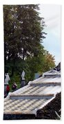 The Chessboard Hill Cascade Fountain On The Grounds Of The Peterhof Palace Bath Towel
