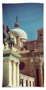 The Equestrian Statue Of Bartolomeo Colleoni In Venice Bath Towel