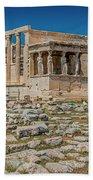 The Erechtheum On The Acropolis, Athens, Greece Bath Towel
