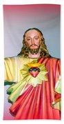 The Hands Of Christ Bath Towel