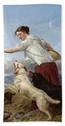 The Highland Lassie Bath Towel