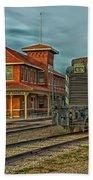 The Historic Santa Fe Railroad Station Bath Towel