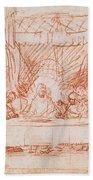 The Last Supper, After Leonardo Da Vinci Hand Towel