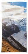 The Monte Rosa Massif In Switzerland Bath Towel
