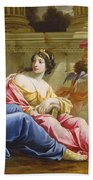 The Muses Urania And Calliope Bath Towel